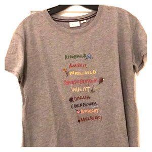 Anthropologie Tops - Anthropologie T-shirt Fruit Grain Tee